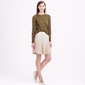 J.Crew Laser-cut pleated skirt